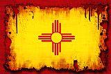 垃圾风格新墨西哥州标志装饰画