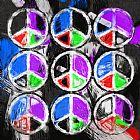 和平标志摘要装饰画
