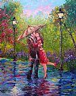 公园湿吻装饰画