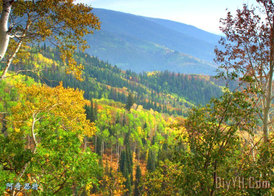 七彩科罗拉多州装饰画_风景_风景优美的_山脉_图片