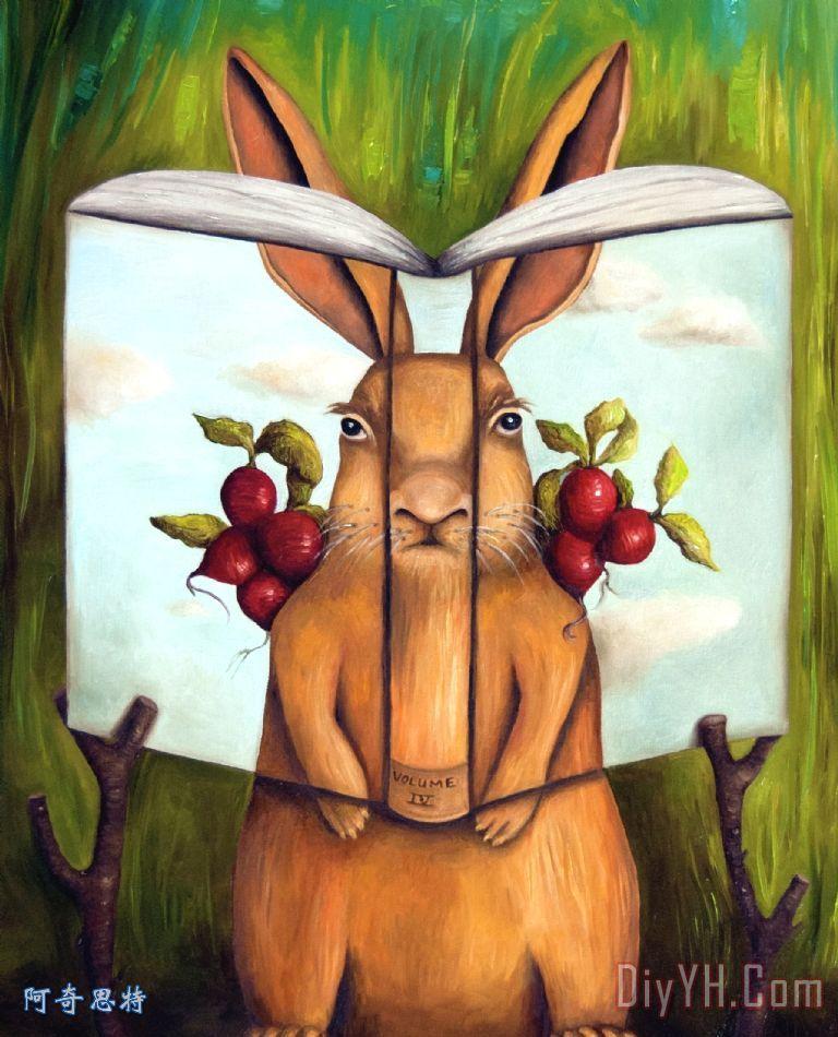 秘密之书4 - 兔子的故事装饰画_动物_复活节_蔬菜__之