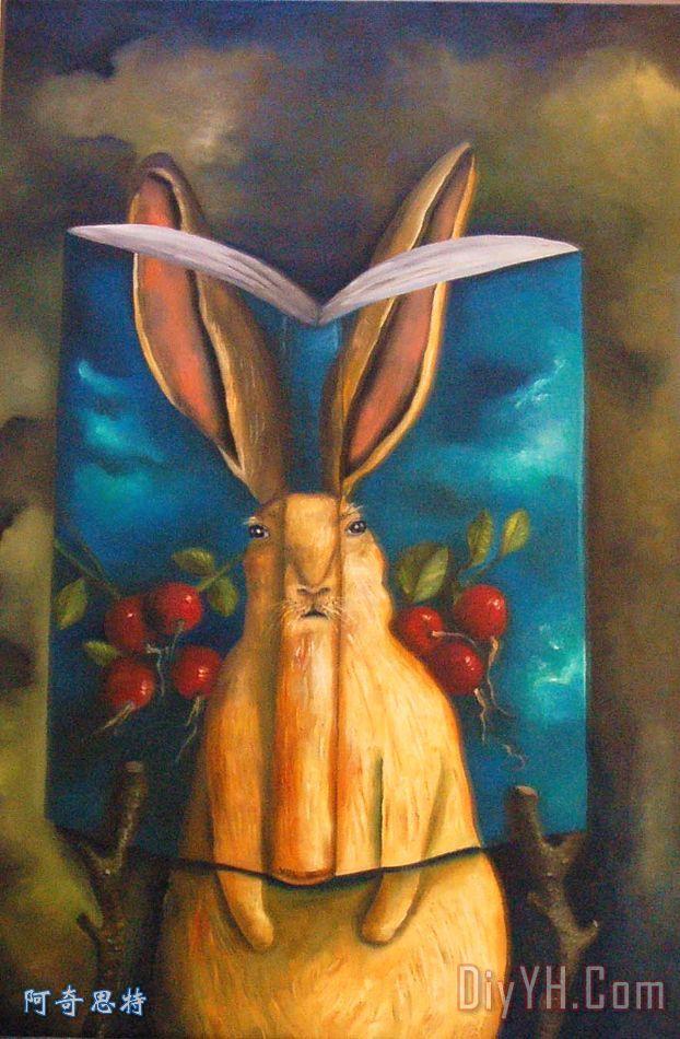 兔子的故事装饰画_动物