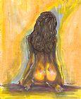 裸体女人背面人物装饰画