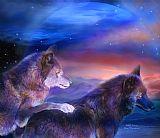 狼的配合装饰画