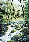 山涧溪流装饰画