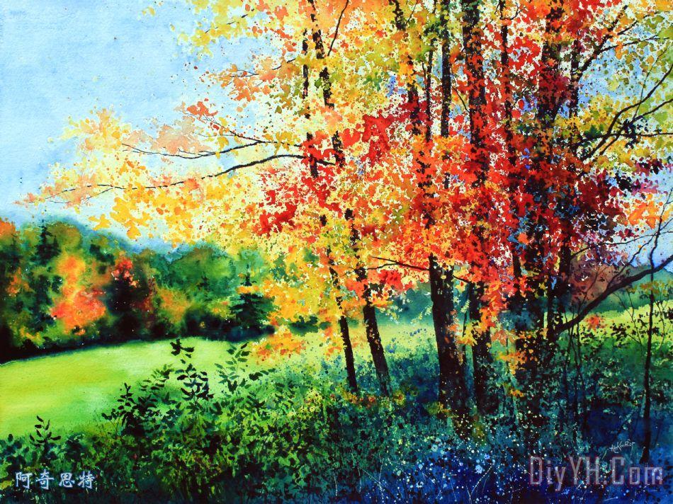 秋天的颜色装饰画 风景 秋天的景色 秋天的颜色油画定制 阿奇思特