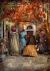 秋人步行到市中心装饰画