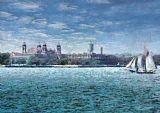 - 纽约州的船埃利斯岛