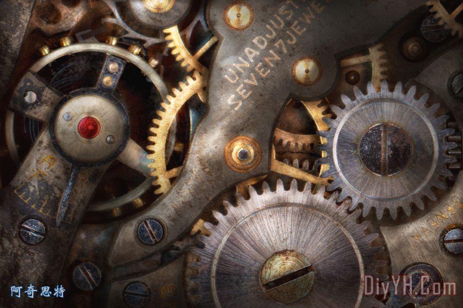 蒸汽朋克齿轮6426-2-2002钟表