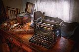 蒸汽朋克打字机的秘密信使装饰画