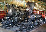 火车引擎蒸汽机车装饰画