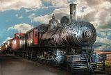 火车发动机6净重G类蒸汽机车4 6 0装饰画