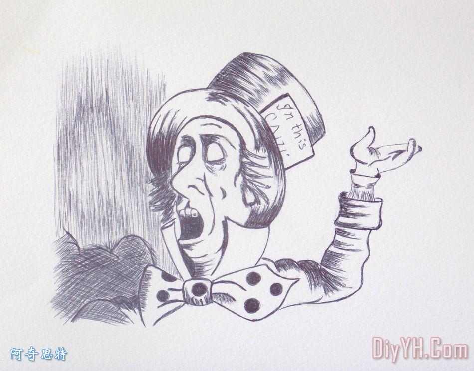 爱丽丝梦游仙境的疯帽子1865