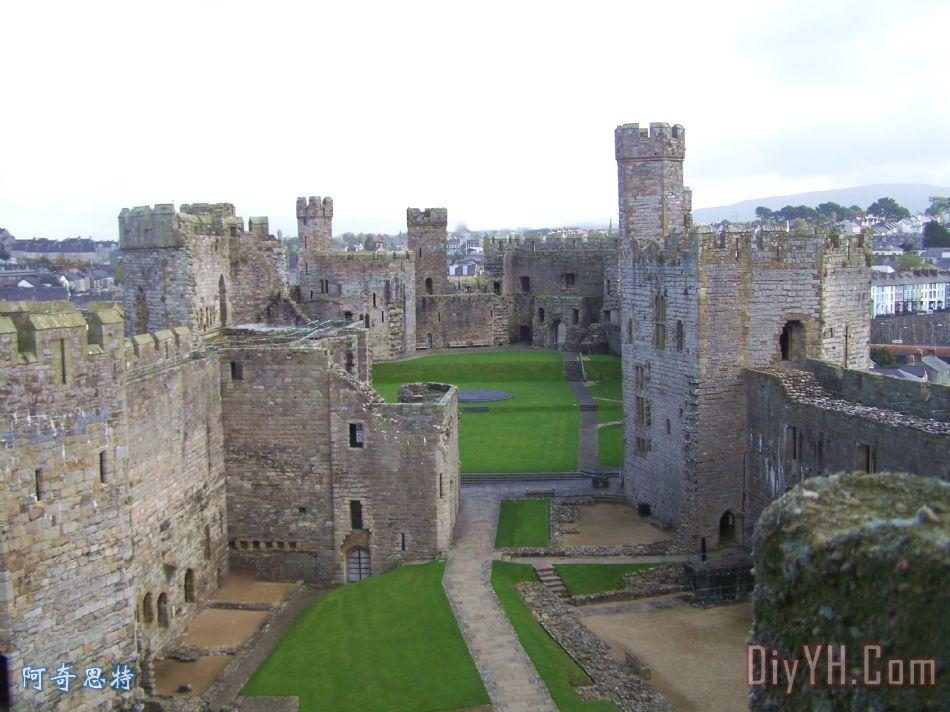 欧式城堡彩铅图片