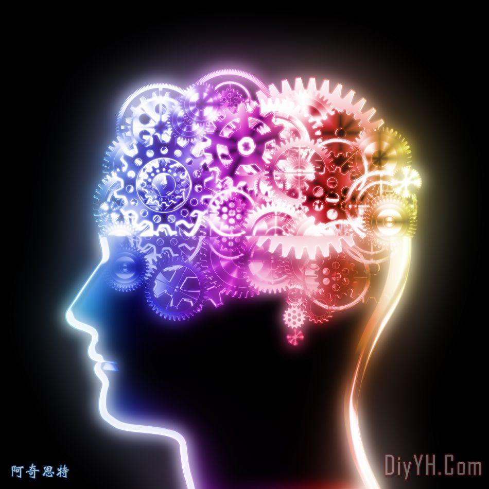 脑设计制作齿轮和齿轮装饰画_背景_商业_脑设计制作和