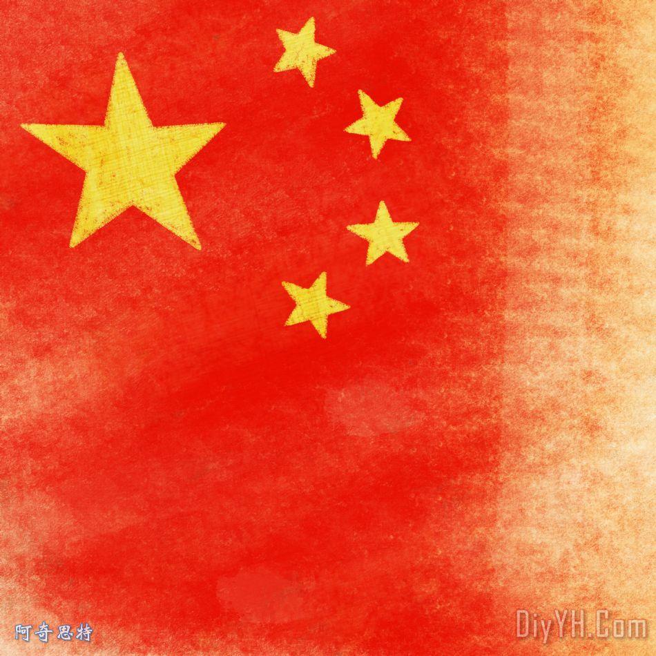中国国旗 - 中国国旗装饰画