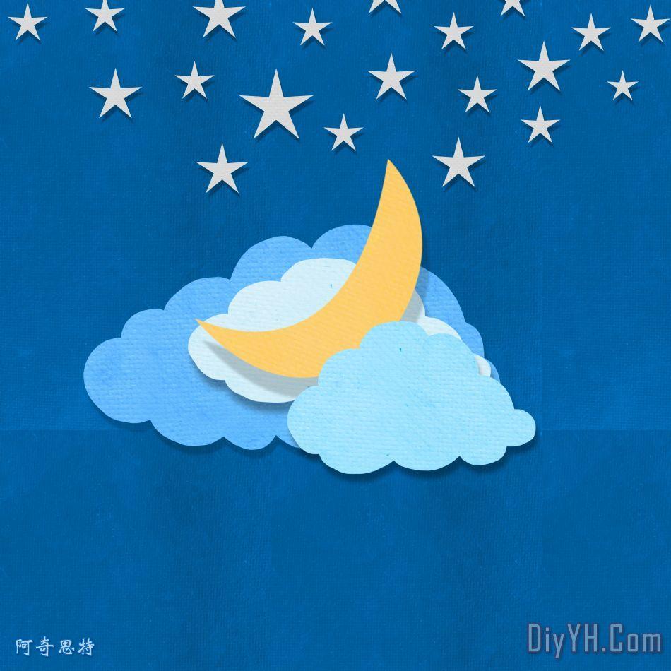云月亮和星星设计