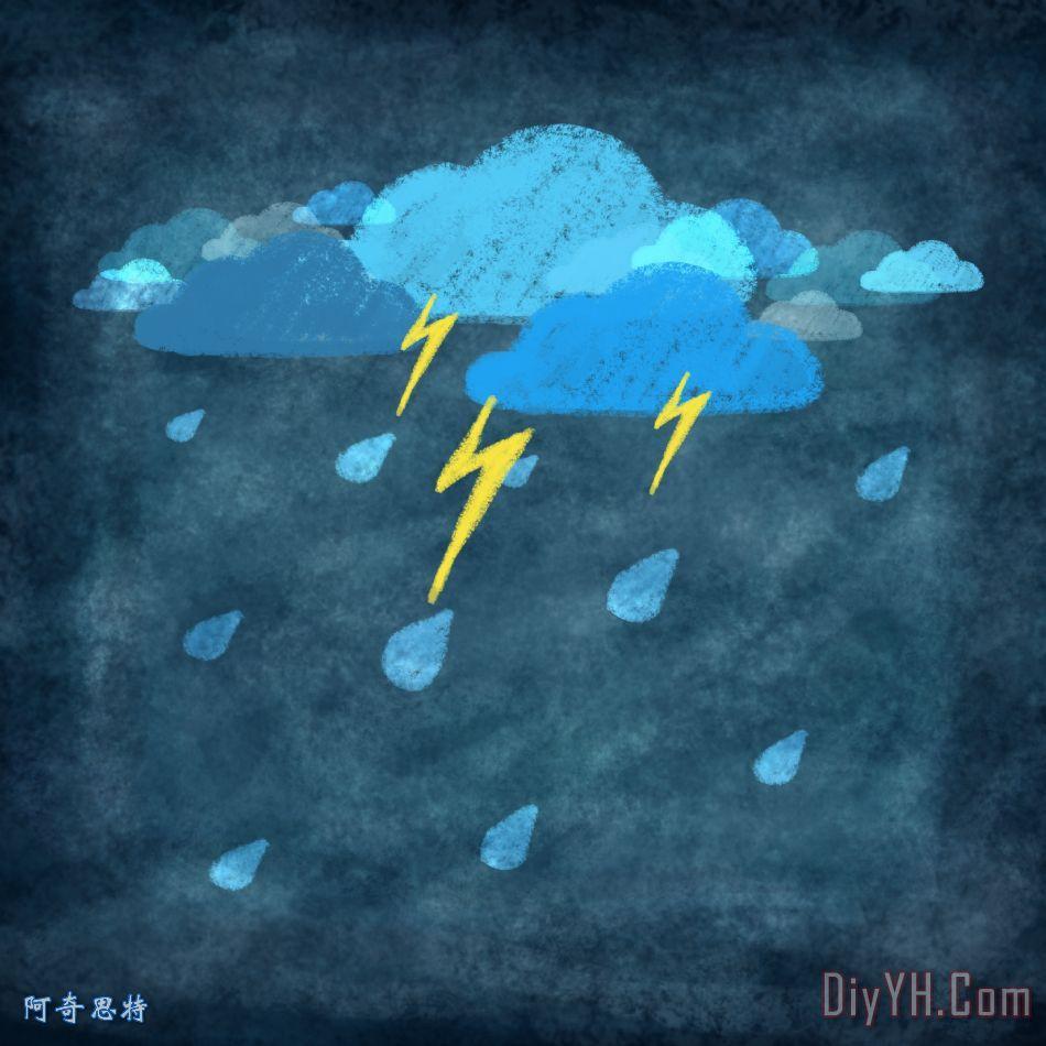 雨天旋风,迅雷 - 雨天旋风,迅雷装饰画