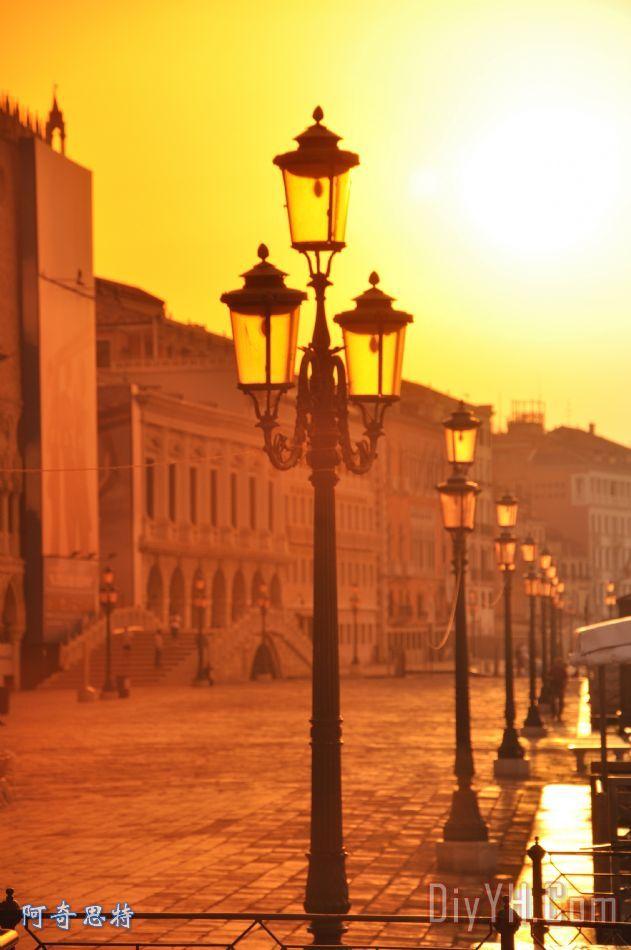 威尼斯日出104装饰画_风景_欧洲_晚霞_意大利_威尼斯
