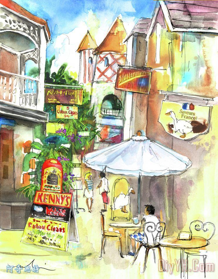 街圣马丁装饰画_西印度群岛