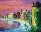 斯诺在法国村装饰画