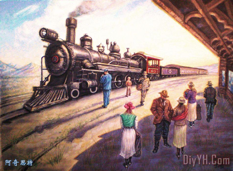 火车站在伊利 - 火车站在伊利装饰画