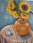 花瓶向日葵装饰画