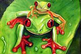 青蛙圈地装饰画