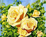 夏洛特的花园 - 黄玫瑰装饰画