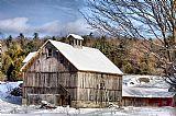 伯克希尔谷仓在冬季装饰画