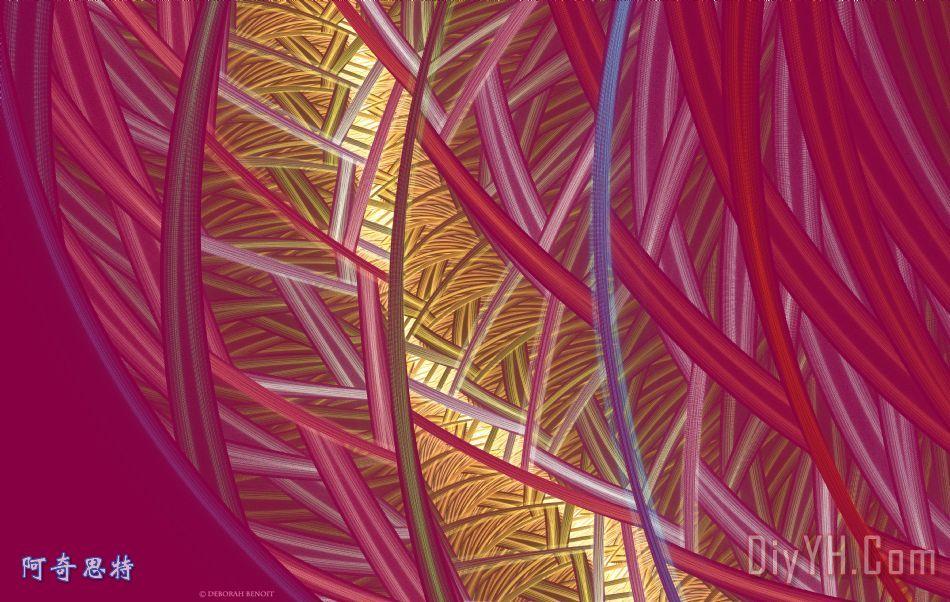 粉红色的线条装饰画_淡红色的_黄金_台词_粉红色的
