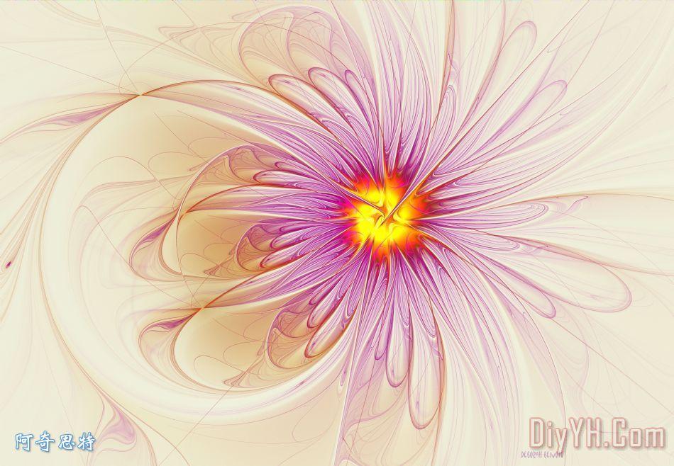 紫色的花 - 紫色的花装饰画