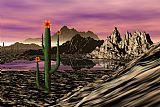沙漠卡通装饰画