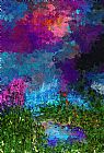 在思考一个池塘装饰画