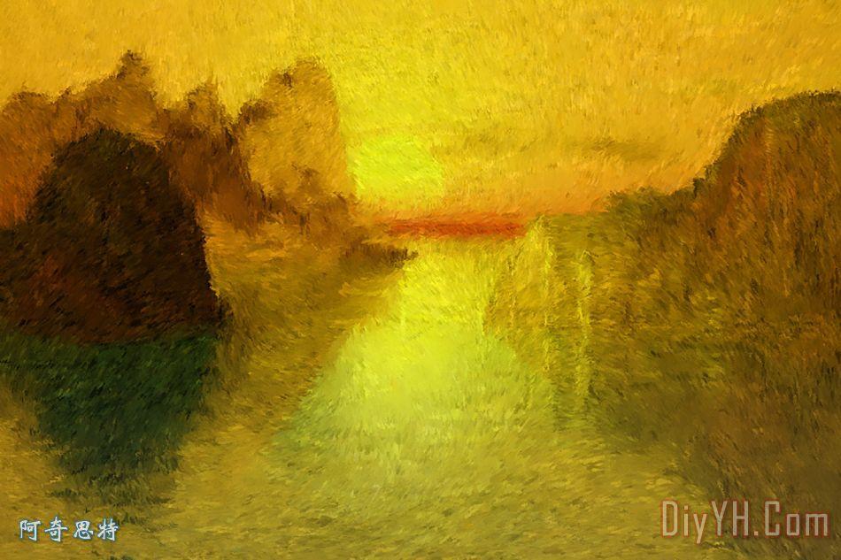 日出装饰画_风景_海景_田园的,乡下的_自然_海景画