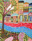 抽象山水画童话村装饰画