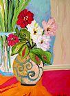 在花瓶鲜花装饰画