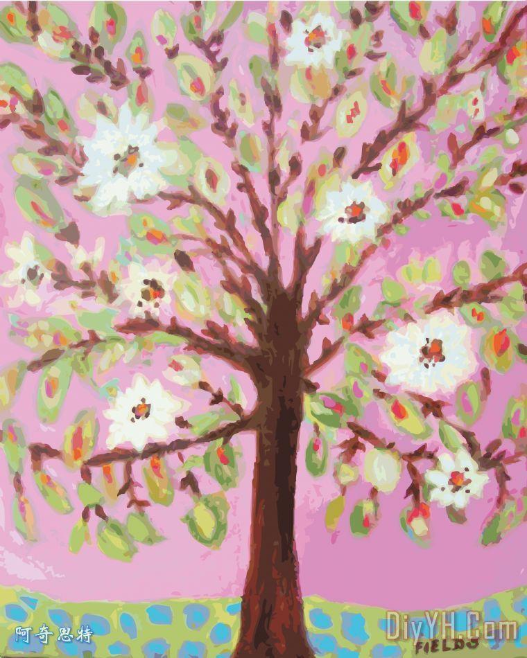 粉红色的天空树
