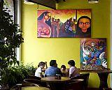 艺术在墨西哥城装饰画