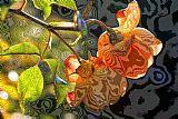 夏天的玫瑰在英国花园装饰画