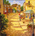 意大利村古典风格油画