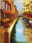 意大利的运河街装饰画