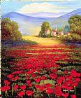 红色的罂粟花装饰画