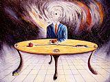男子试图理解他在宇宙中的位置装饰画