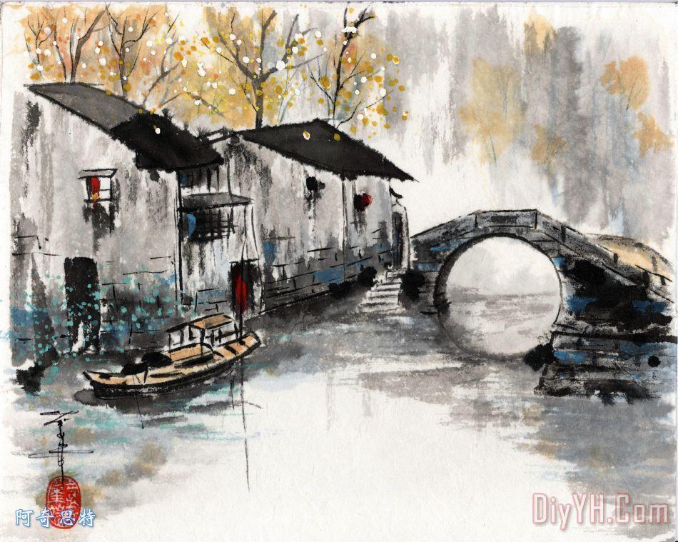 大运河上的苏州拱桥 - 大运河上的苏州拱桥装饰画