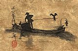 - 漓江在中国的鸬鹚渔夫