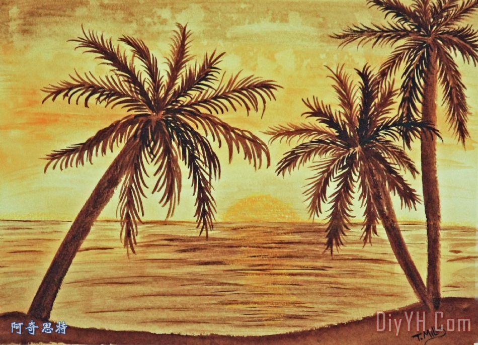 棕榈手绘平面图展示