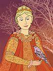 女王和鸟装饰画