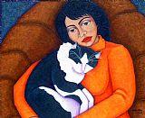 摩根娜与女人装饰画