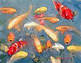 鱼在湖装饰画